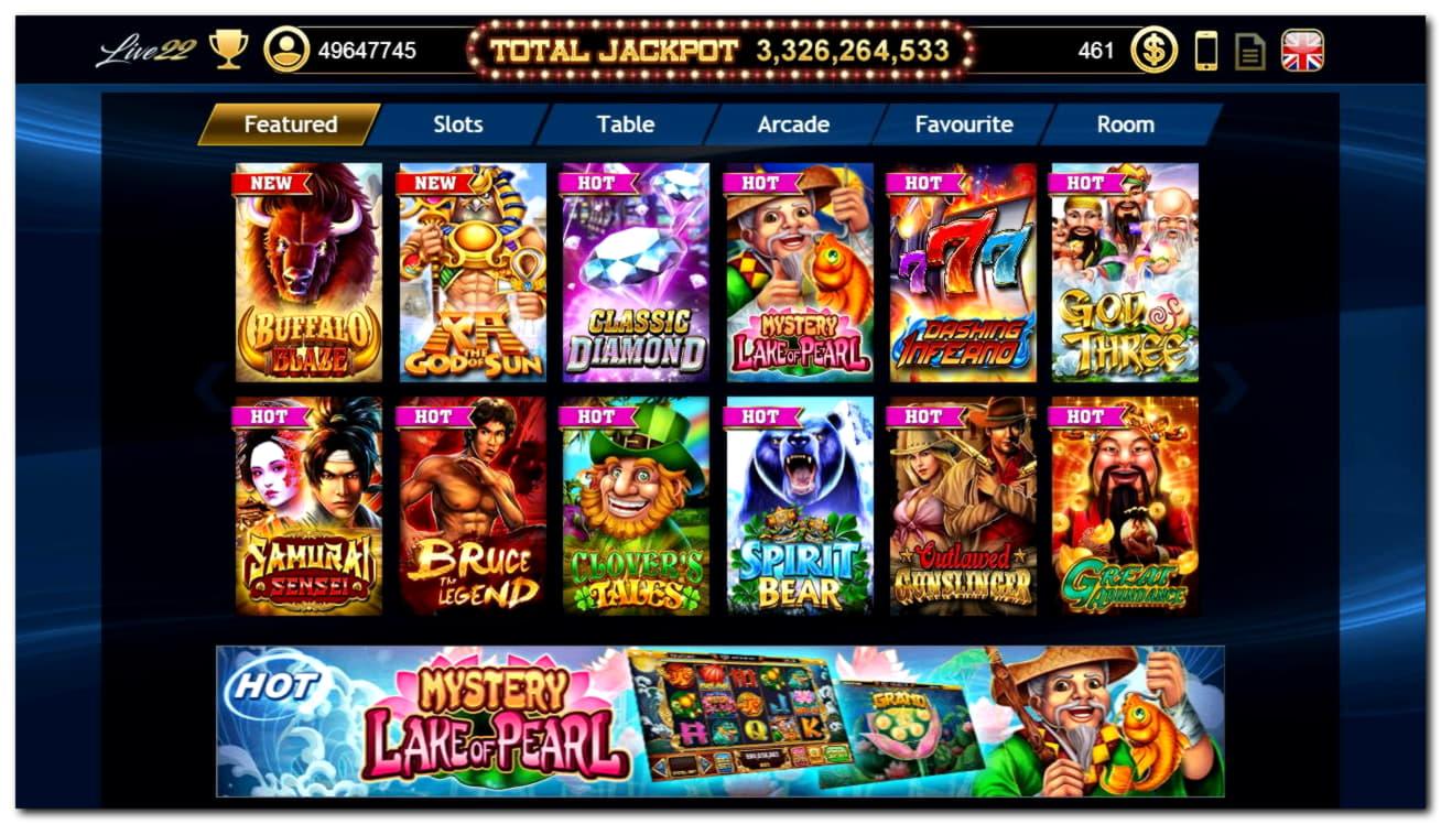 995% -os mérkőzés egy kaszinóban a Slots Billion Casino-ban